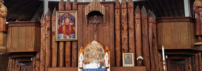 Penghormatan Kaum Kristiani Melalui Kuil Nasional Lady of Martyrs Roma di Auriesville di Amerika New York